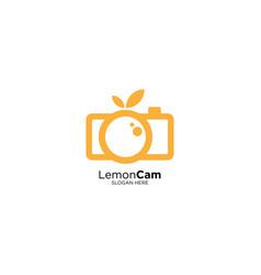 Fruit cam logo design template vector