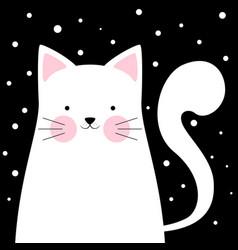 Funny cute cat winter vector