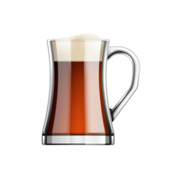 glass amber beer composition vector image
