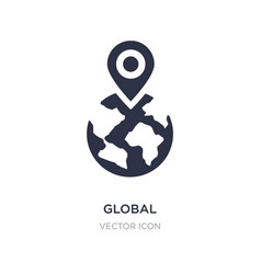 Global localization icon on white background vector