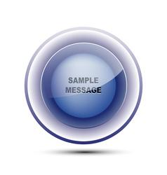 Glossy Blue Circle vector image