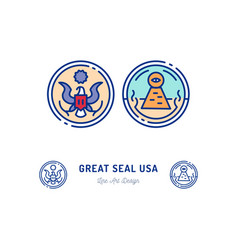 great seal united states line icon vector image