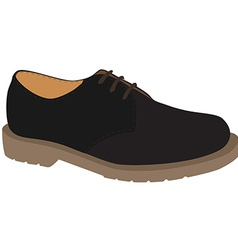 Grey shoe vector image