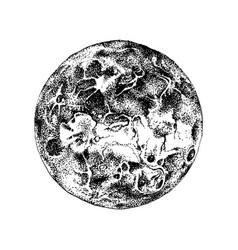 hand drawn venus planet vector image