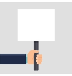 Hand holding a sign or blank poster Vertical vector