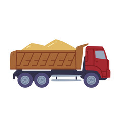 Heavy machine or truck carrying wheat or barley vector