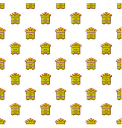 Hive for bees pattern seamless vector