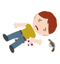 homicide vector image