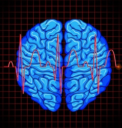Human brain and brain graph on grids vector