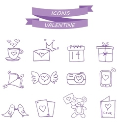 icon of valentine collection vector image