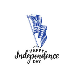 independence day of united states of americahand vector image