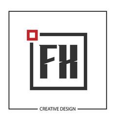 Initial letter fx logo template design vector