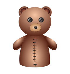 isolated bear puppet vector image