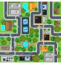 map city top view design flat vector image