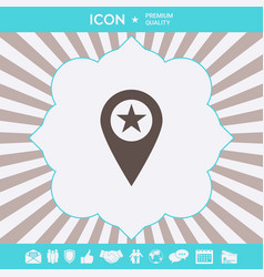 map pointer with star graphic elements for your vector image