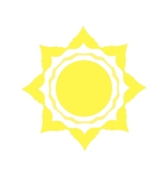 Mechanical logo yellow sun vector