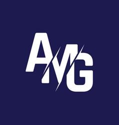 Monogram letters initial logo design amg vector