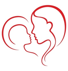 Motherhood love vector image