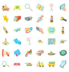 Movement icons set cartoon style vector