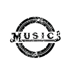 Music logo logotype grungy theme art vector