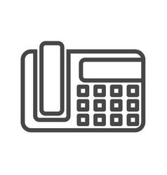 office phone thin line icon vector image