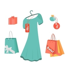 Party Dresses Accessory Perfumes on Sale vector