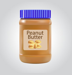 Peanut butter detailed icon isolated on white vector