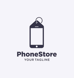 Phone store logo design vector