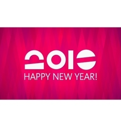 pink 2016 new year banner vector image