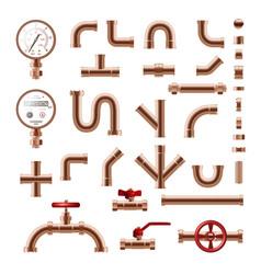 Pipeline realistic set vector