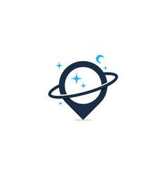 planet point logo icon design vector image