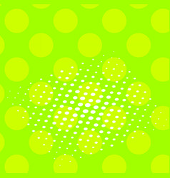 pop art background of a color green and vector image