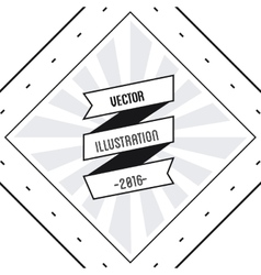 Ribbon icon Hipster Style design graphic vector