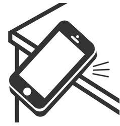 Ringing smartphone icon mobile phone ringing or vector