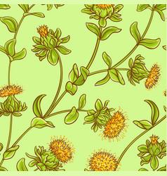 Safflower seamless pattern vector