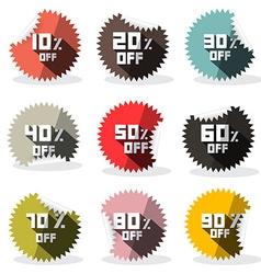 Sale Retro Stickers - Labels vector image