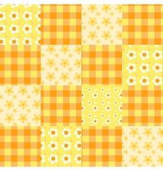 seamless patchwork pattern orange vector image