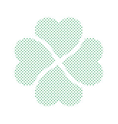 shamrock - green four leaf clover icon simple vector image
