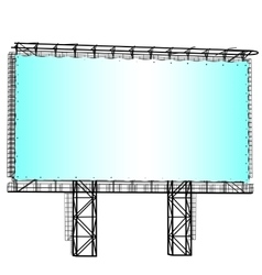 Silhouette of Steel structure billboard vector image