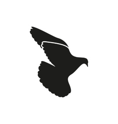 Simple black one single peace dove pigeon icon vector image