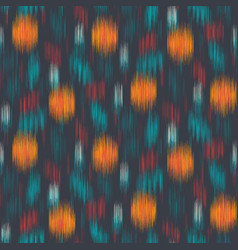 Smooth blurry floral swatch ikat fuzzy pattern vector