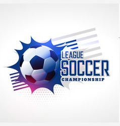 soccer league football championship background vector image