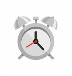 steel polished alarm clock vector image