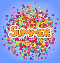 Summer yellow lettering vector
