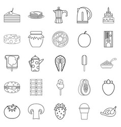 Supply icons set outline style vector