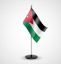 Table flag of jordan vector