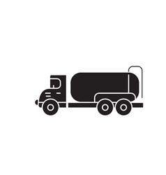 tank truck black concept icon tank truck vector image