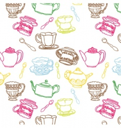 Teapot seamless vector