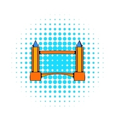 Tower Bridge in London icon comics style vector