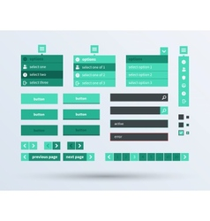 ui set flat design trend vector image